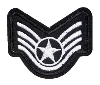 Patch Embroidered - USAF Staff Sergeant E5