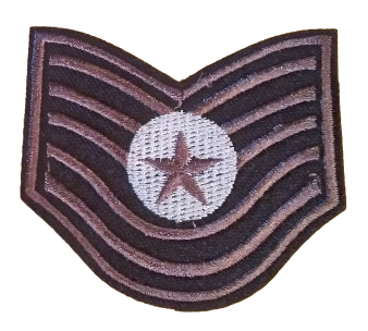 Patch Embroidered - USAF Technical Sergeant E6