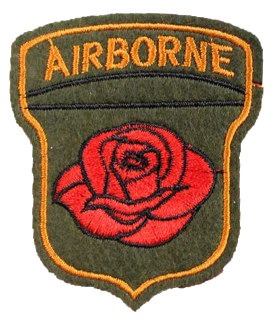 Patch Embroidered - Airborne Rose
