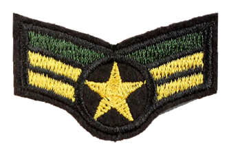 Patch Embroidered - USAF Senior Airman Corporal