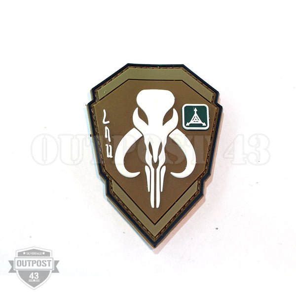 Patch PVC - Mandalorian Bounty Hunter Brown