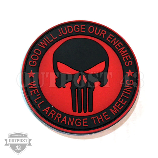 Patch PVC - Punisher Red