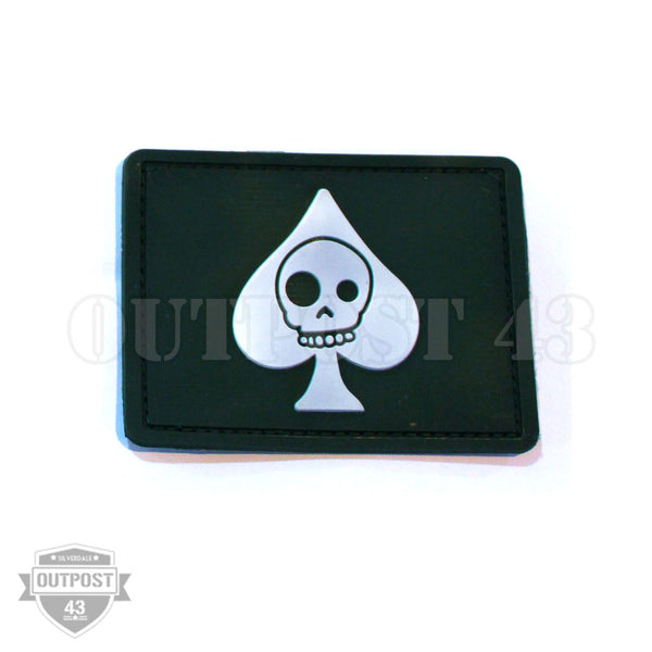 Patch PVC - Skull Heart Green