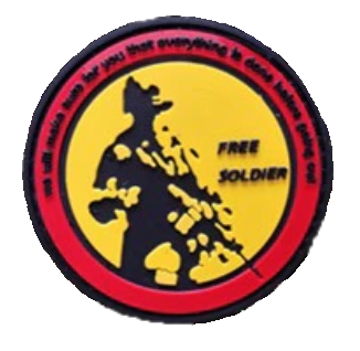 Patch PVC - Free Soldier