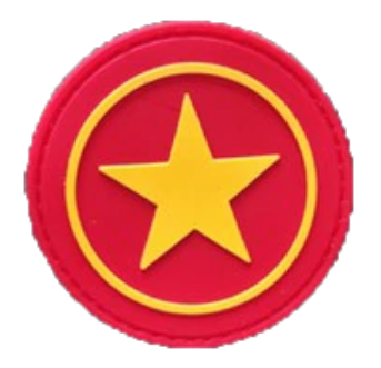 Patch PVC - Yellow Star