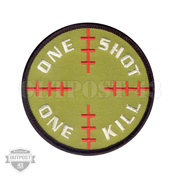 Patch Embroidered - One Shot One Kill