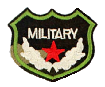 Patch Embroidered - Military Shield - Red Star