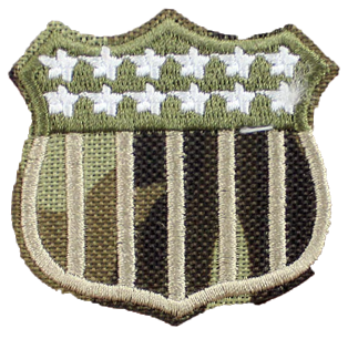 Patch Embroidered - USA Shield