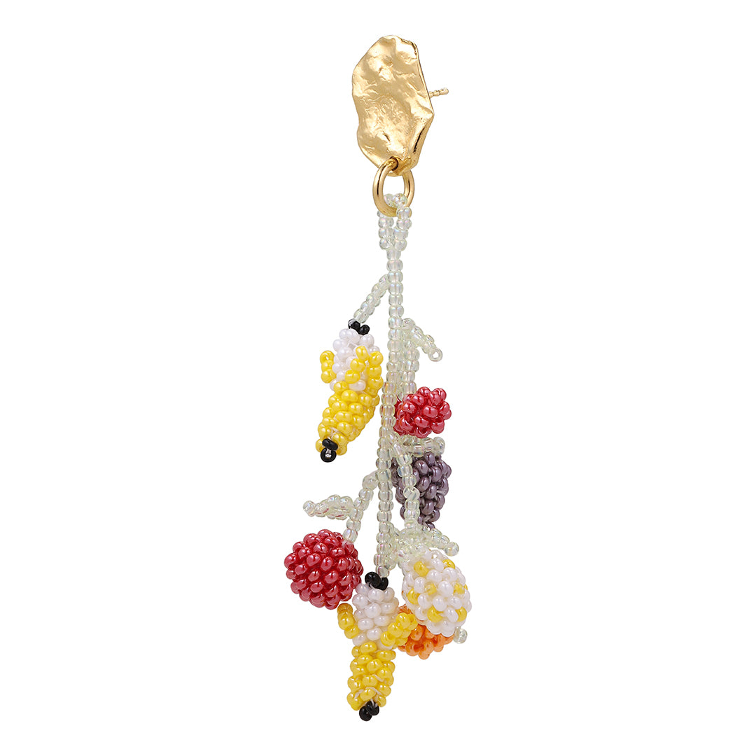 GOLD BLOB FRUIT SALAD EARRING