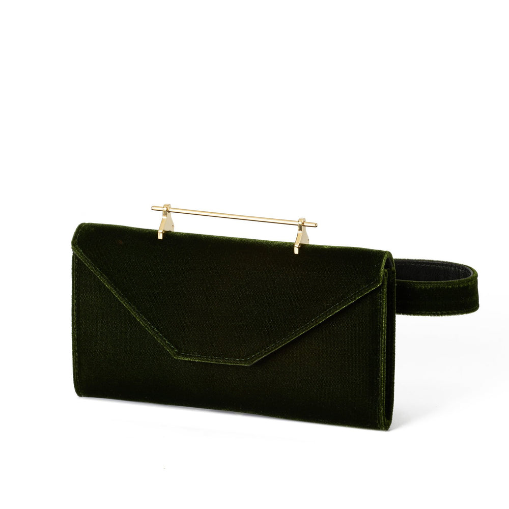 Belt Bag Forest Green Velvet