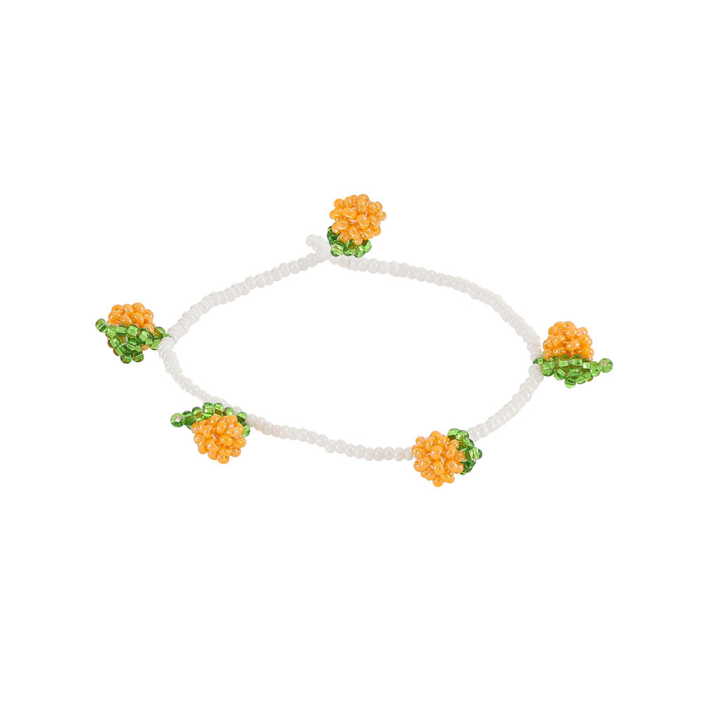 ORANGES BEADED BRACELET