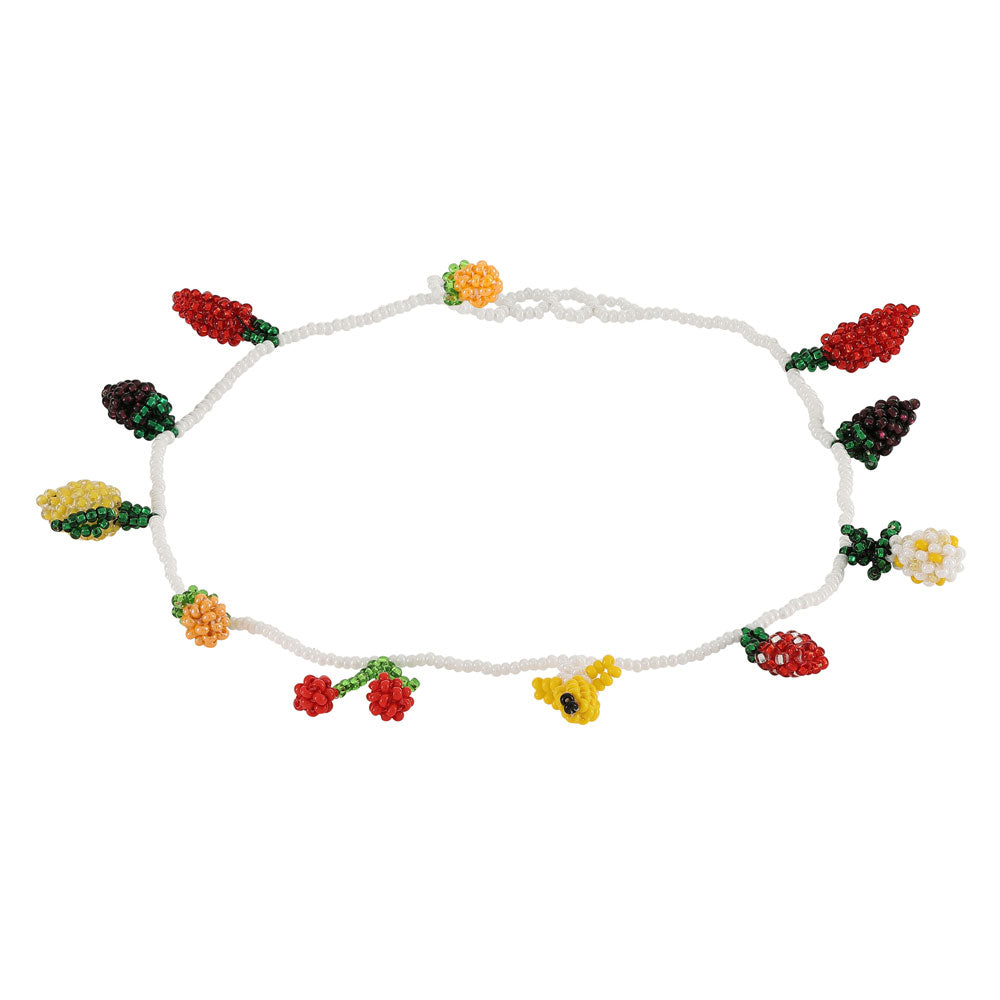 FRUIT SALAD BEADED NECKLACE