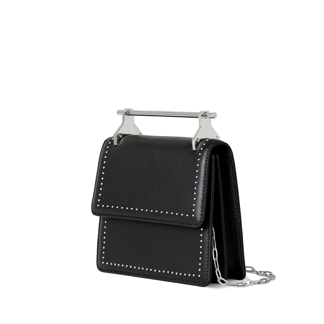 Mini Collectionneuse Black With Silver Studs