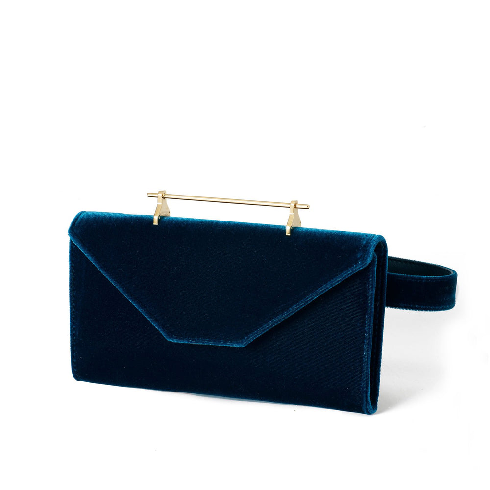 Belt Bag Petrol Blue Velvet