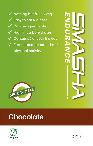 SMASHA Endurance Chocolate, natural sports nutrition.120 g pouch
