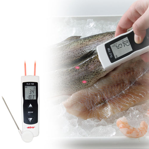 Dual core probe and infrared thermometer