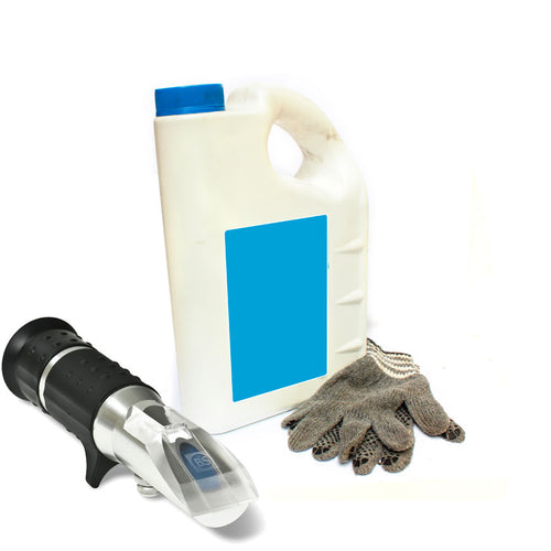 Eclipse refractometer for coolant and cutting liquid