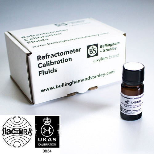 Oil for refractometer calibration traceable to NIST and ICUMSA