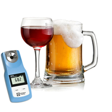 Digital refractometer for beer and wine