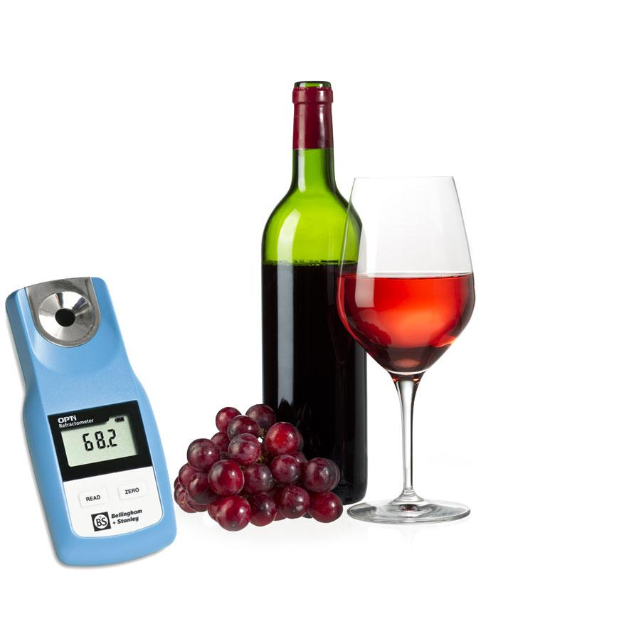 OPTi Digital Handheld Refractometer - Wine (%Mass/Baumé/Alcohol Probable)