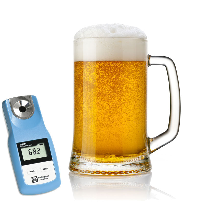 Digital refractometer for beer (wort)