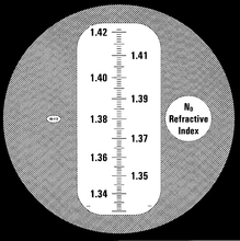 Eclipse 1.33-1.42 RI refractometer scale
