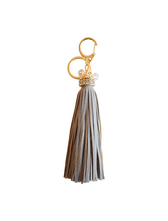 Court Land Tassel Key Charm In Grey