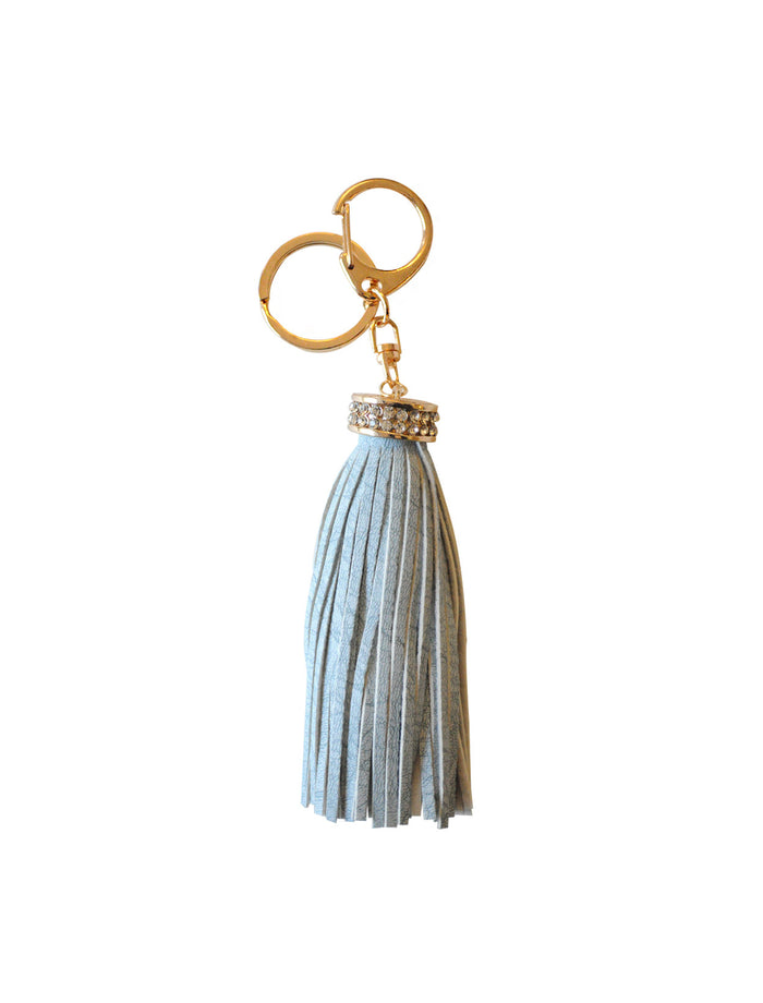 Court Land Tassel Key Charm In Baby Blue