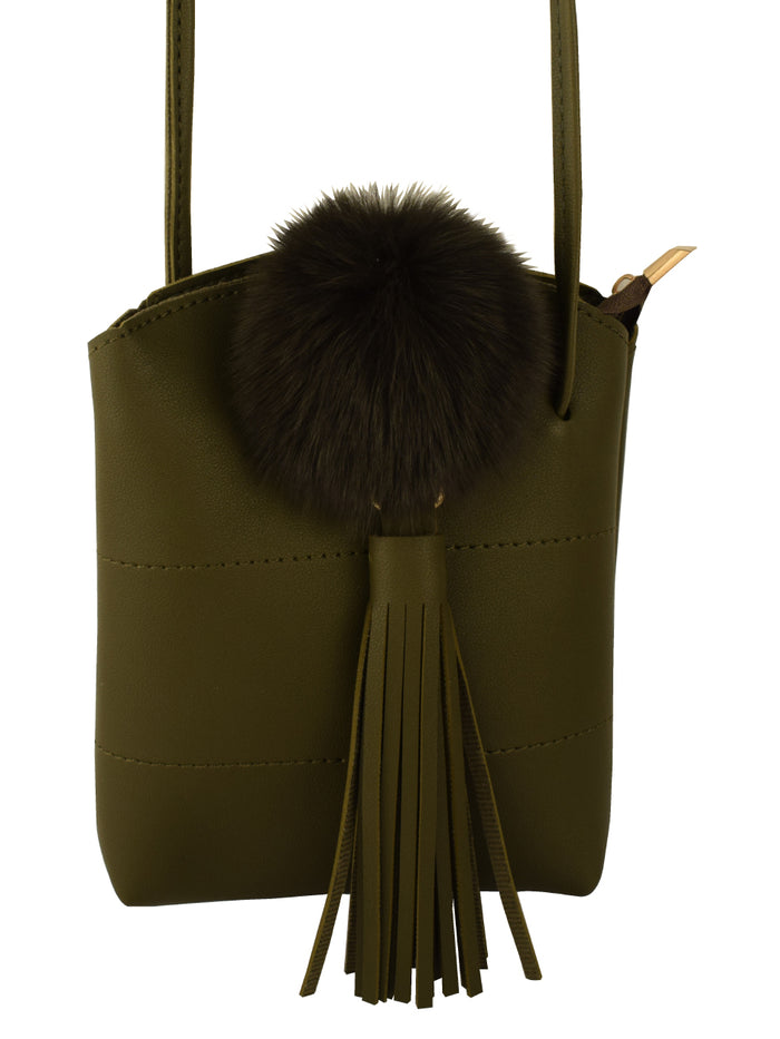 Flassel Bucket Bag in Military Green