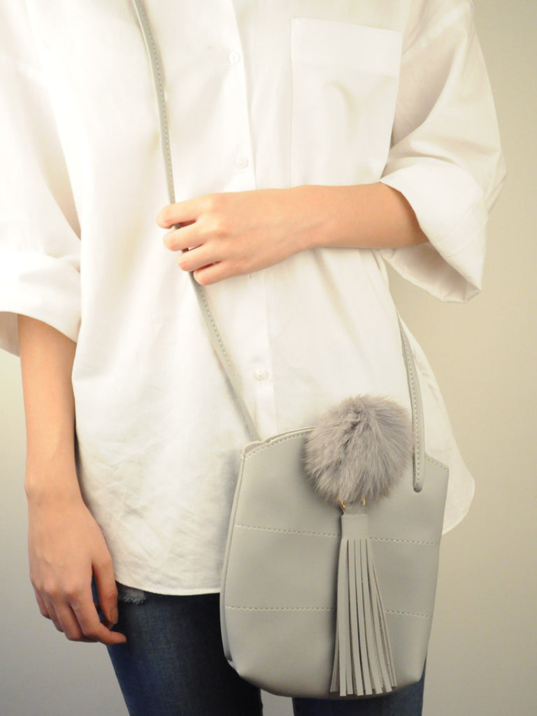 Flassel Bucket Bag in Grey