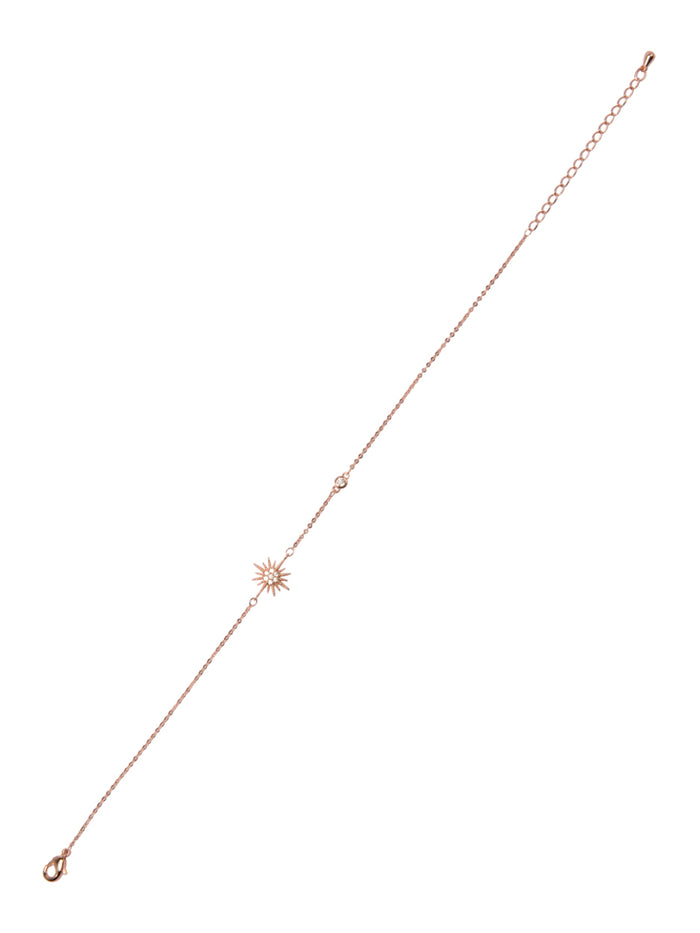 Starstruck Anklet in rose gold