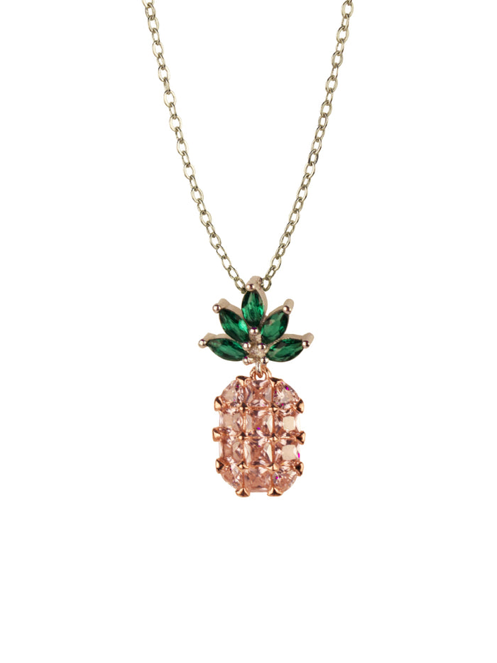 Pink Pineapple Charm necklace