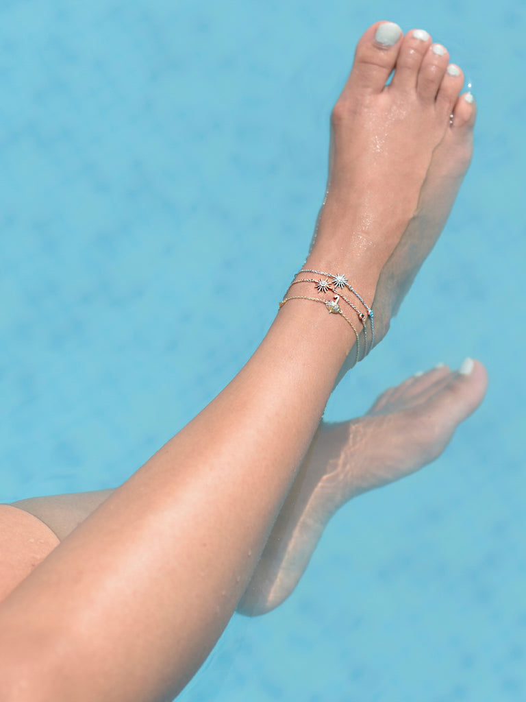 Rain-check Anklet in gold