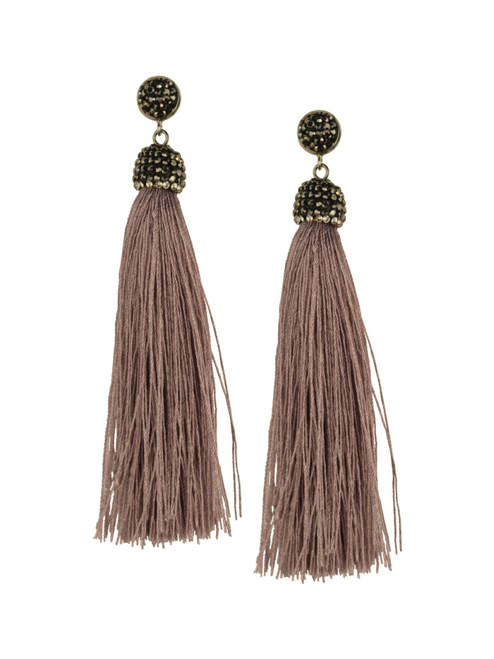 Lilac Tassel Earrings