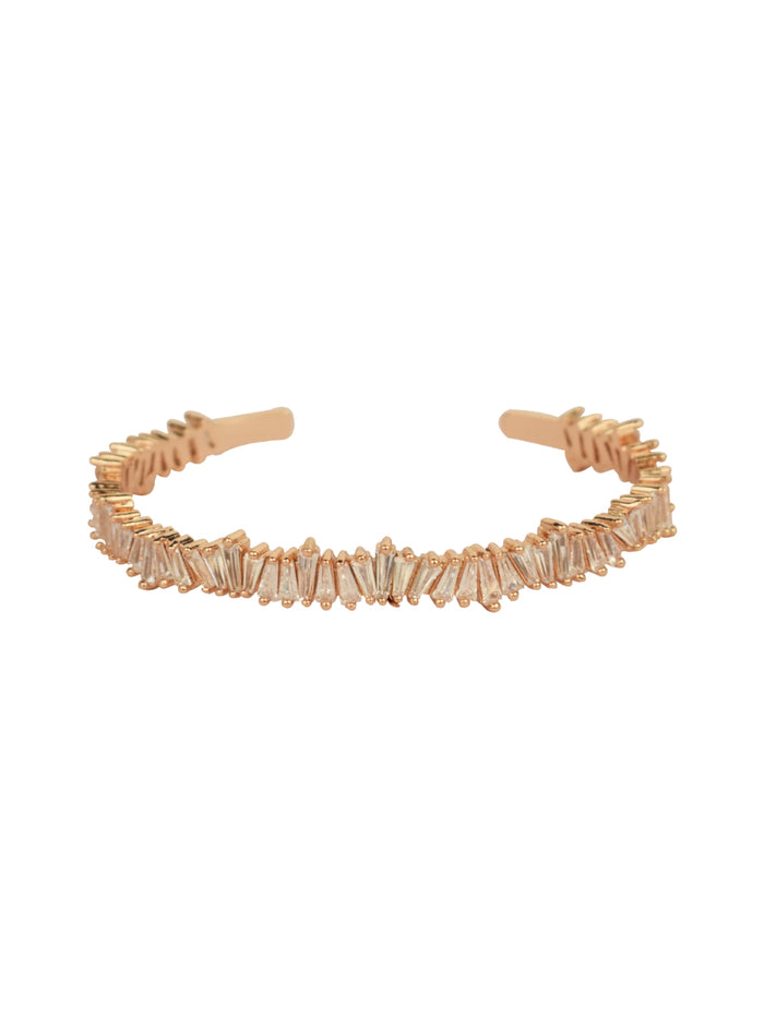 Crystal Shards Adjustable Bracelet in Rose gold