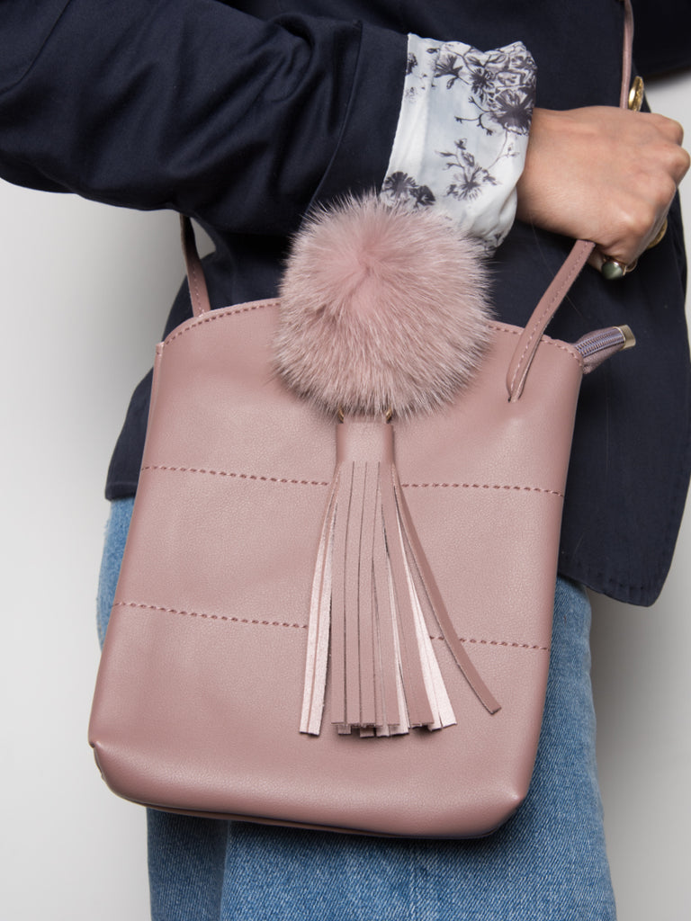 FLASSEL BUCKET BAG IN SALMON