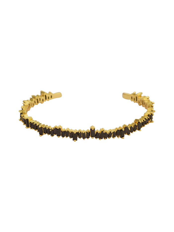 Carbon Shards Adjustable Bracelet in Gold