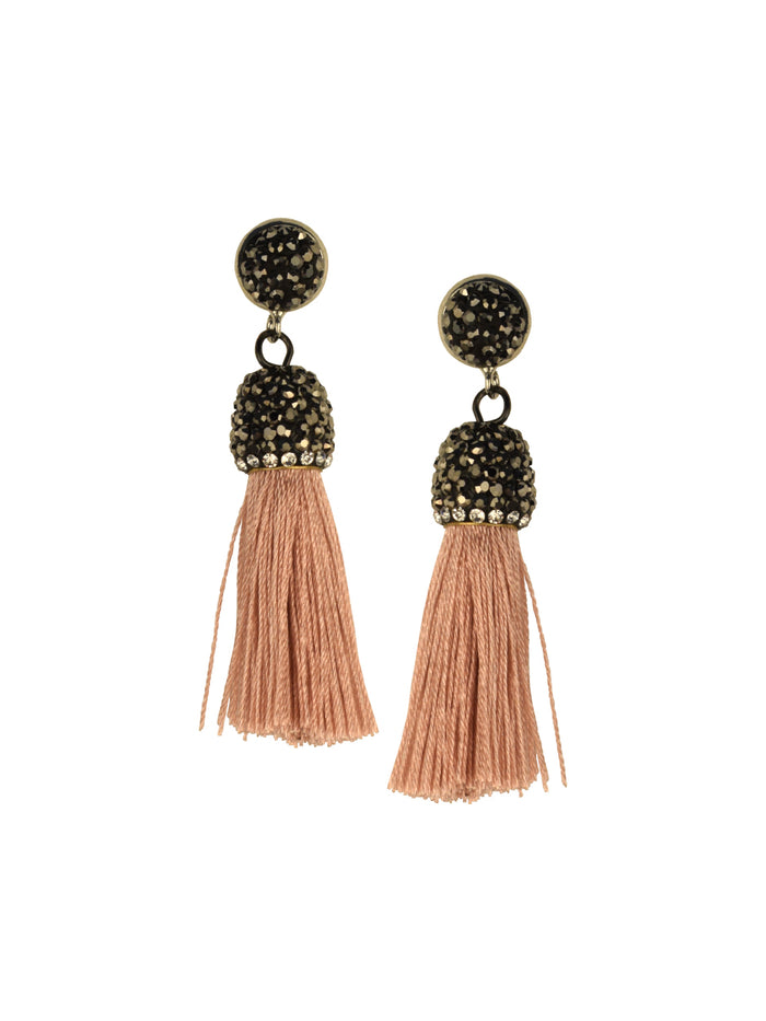 Rose Micro Tassel Earrings