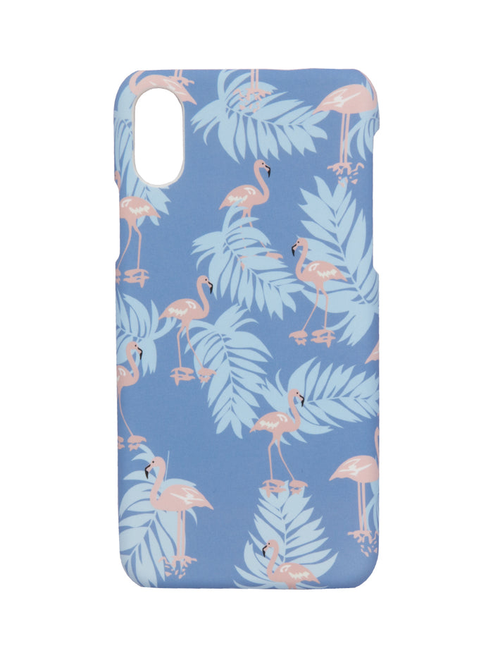 True Blue Flamingo - Iphone X case