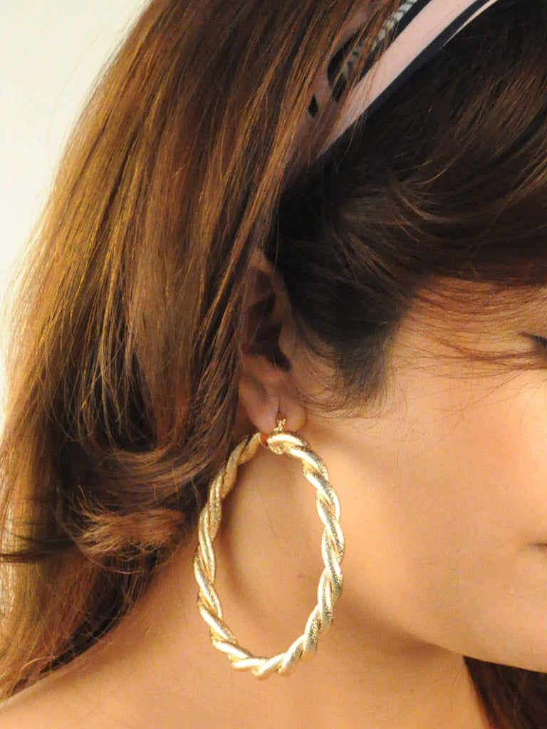 Twine Maxi Hoop Earrings