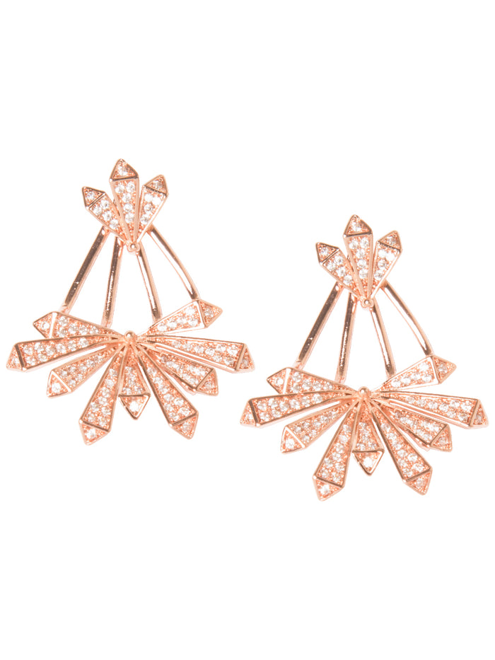 ASTRID EAR JACKETS IN ROSE GOLD