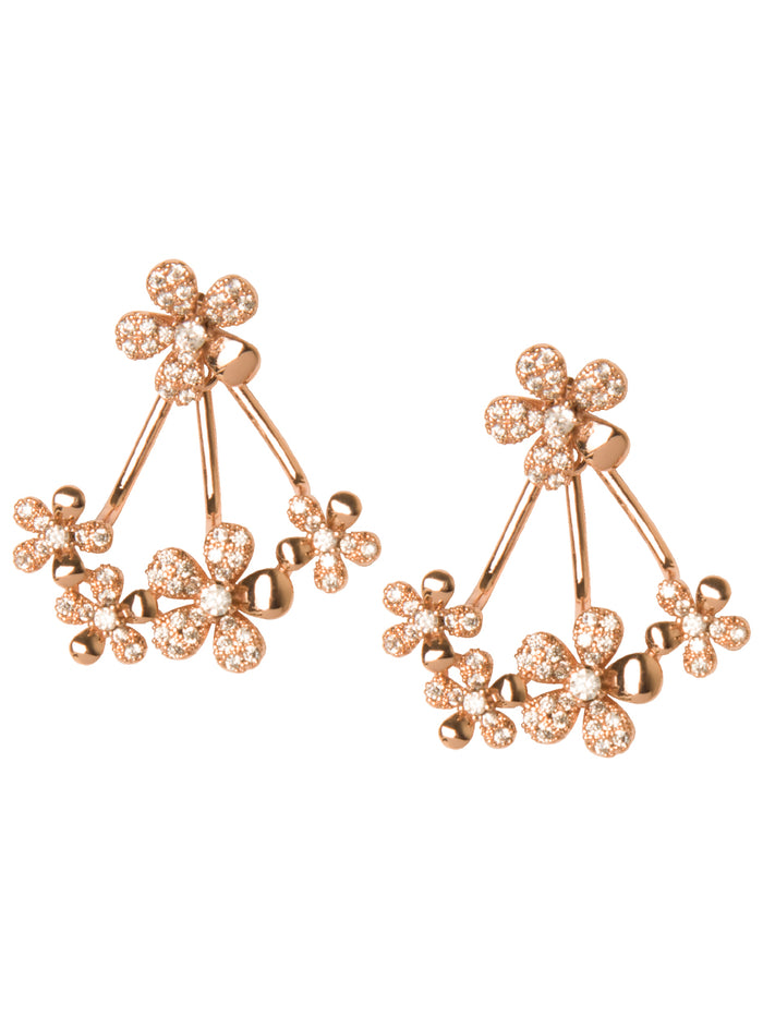 GARDENIA EAR JACKETS IN ROSE GOLD
