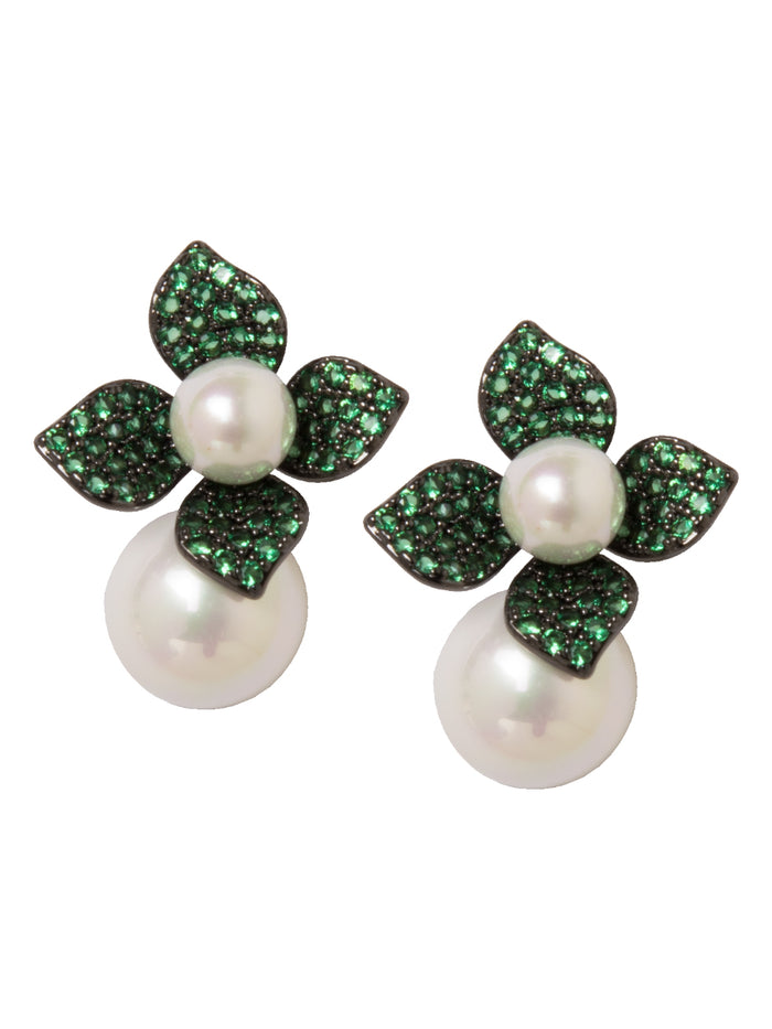 Senna Earrings in Emerald