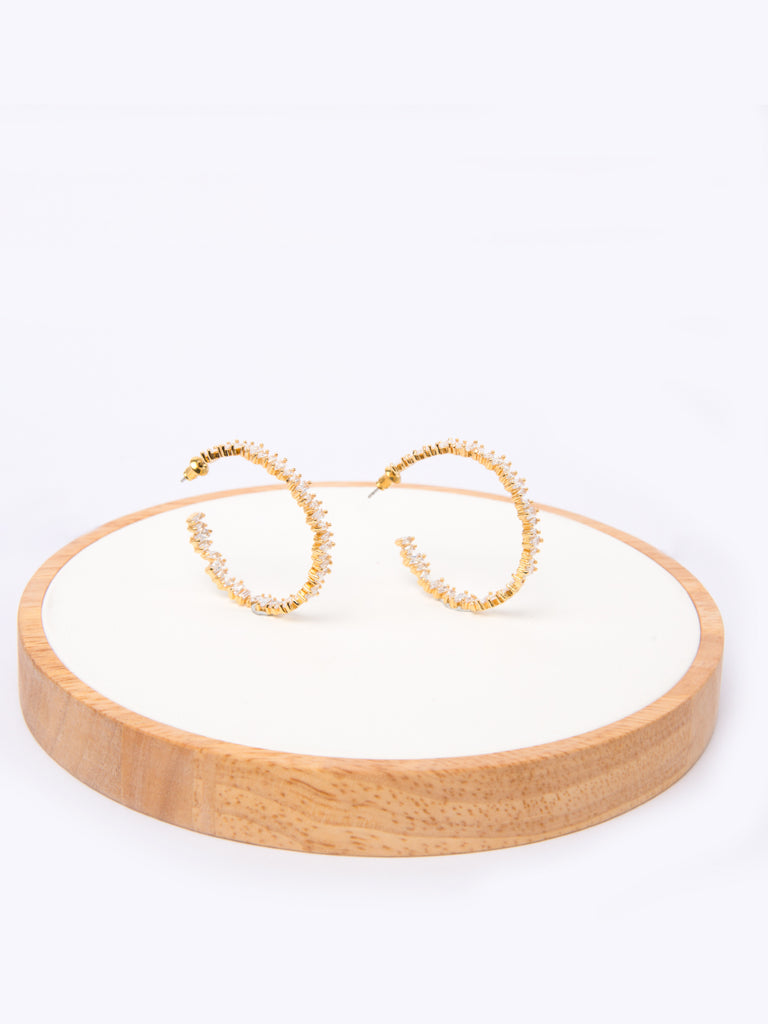 Emmaretta hoops in Gold
