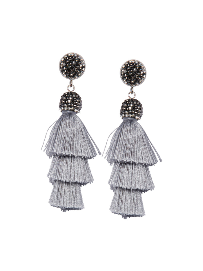 oyster tassel earrings