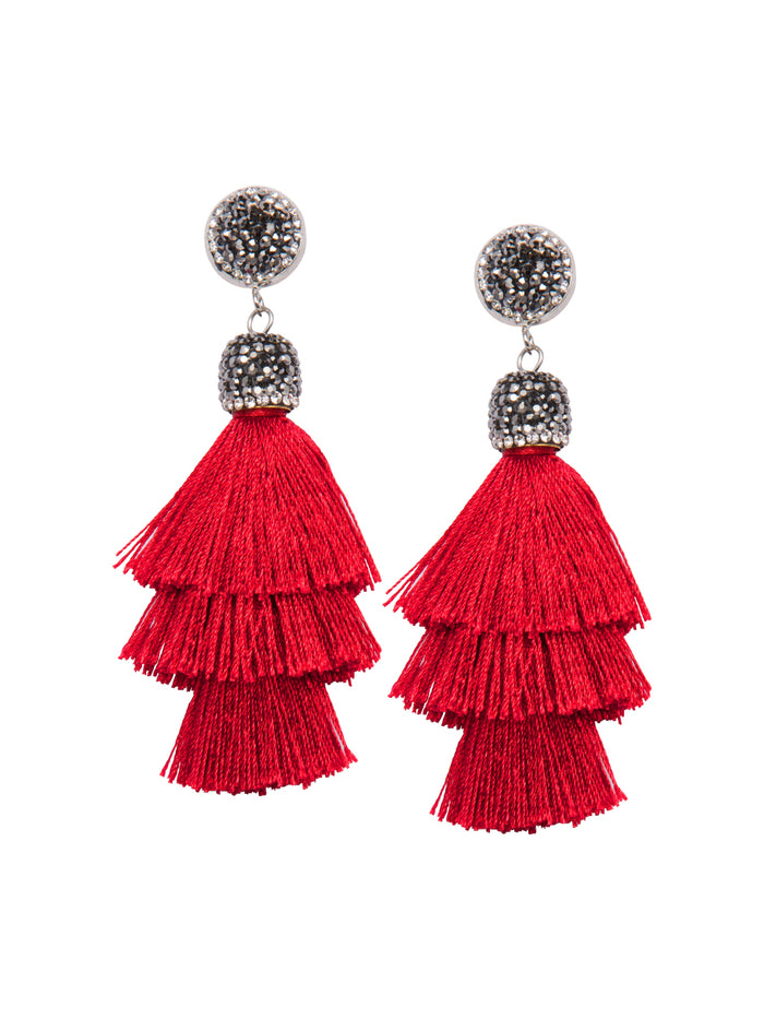 Rubescent Tassel Earrings