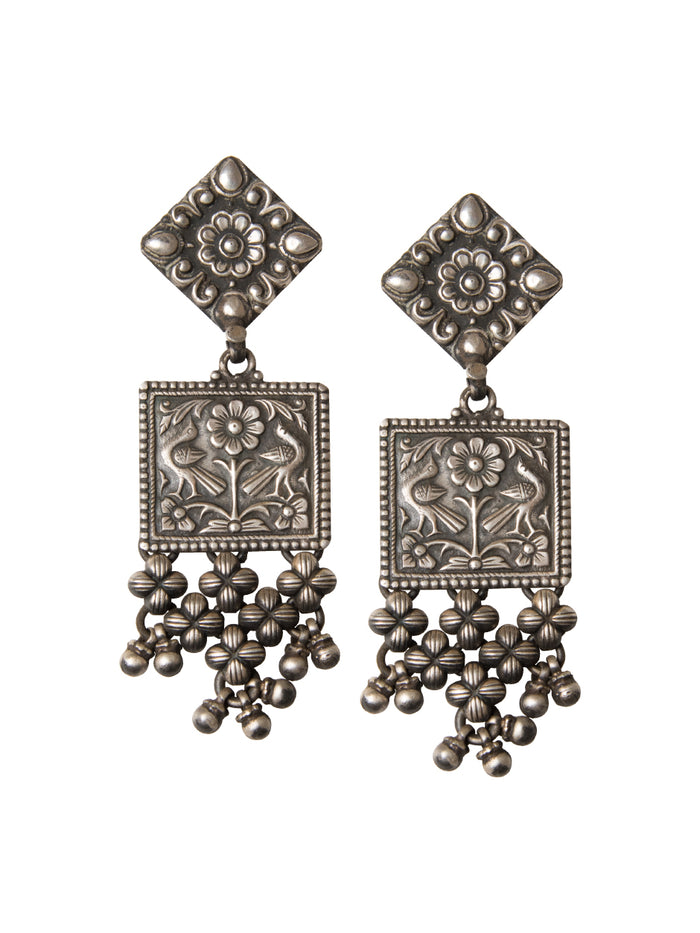 Miraya oxidized earrings