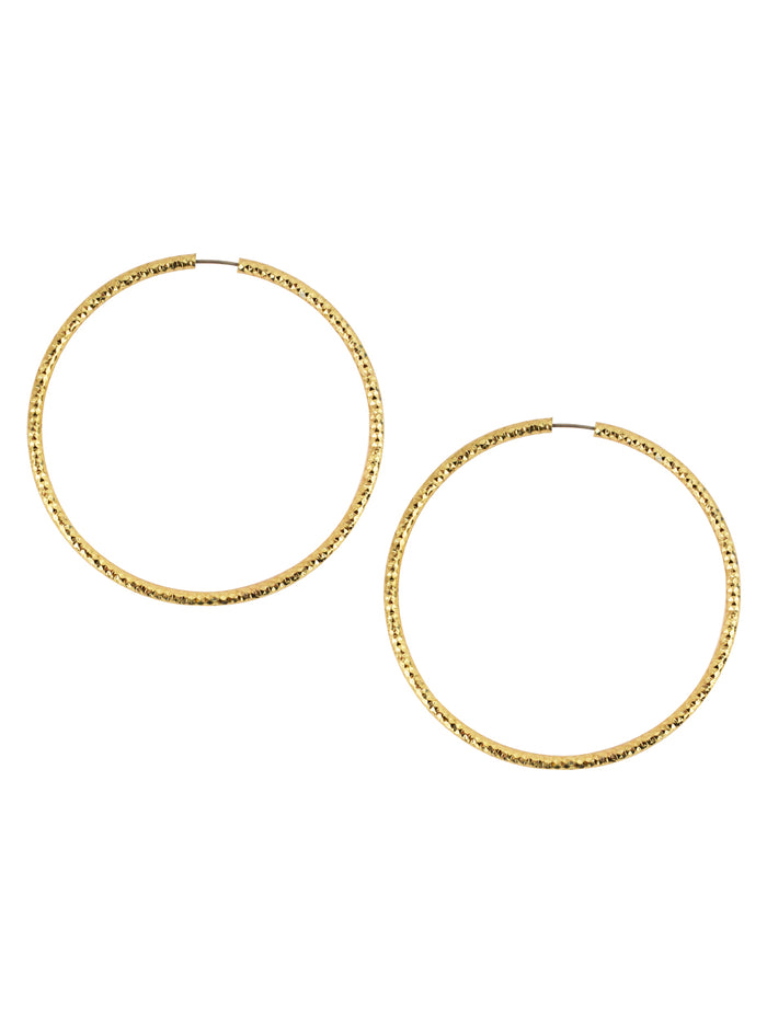 Silken Golden Hoops