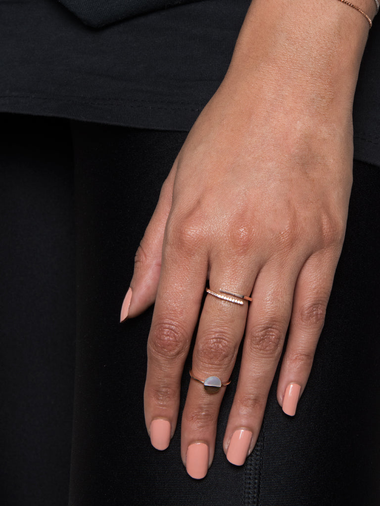 Disc Ring in Rose Gold