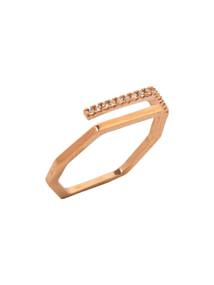 Lineal Ring in Rose Gold